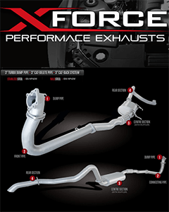Exhaust systems for 4x4 and 4WD